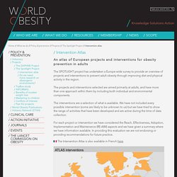 WORLD OBESITY - An atlas of European projects and interventions for obesity prevention in adults