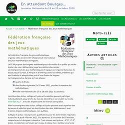Fédération française des jeux mathématiques - En attendant Bourges…