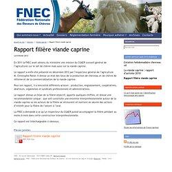 Fédération Nationale des Eleveurs de Chèvres : Rapport filière viande caprine