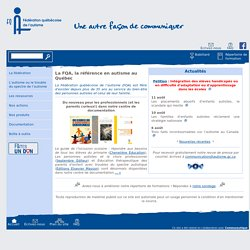 La FQA, la référence en autisme au Québec
