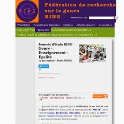 Fédération de recherche sur le genre RING - université Paris 8