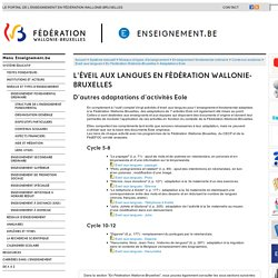 Léveil aux langues en Fédération Wallonie-Bruxelles