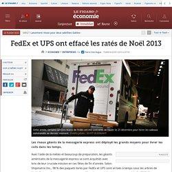FedEx et UPS ont effacé les ratés de Noël 2013