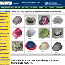Wholesale Fedora Hats in our China factory