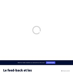 Le feed-back et les apprentissages