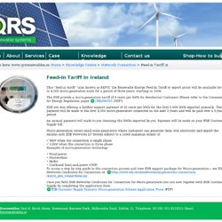 Feed-in Tariff in Ireland « QRS Renewables