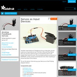 Servos as Input Devices