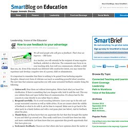 How to use feedback to your advantage SmartBlogs