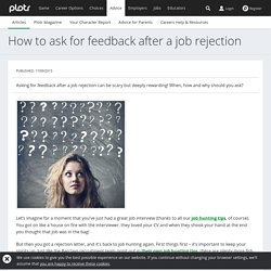 How to ask for feedback after a job rejection