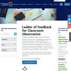 Ladder of Feedback for Classroom Observation