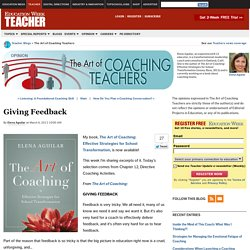 Giving Feedback - The Art of Coaching Teachers
