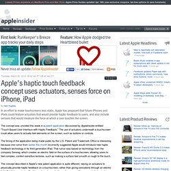 Apple's haptic touch feedback concept uses actuators, senses force on iPhone, iPad