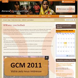 GCM 2011 : your feedback