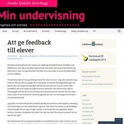 Att ge feedback till elever