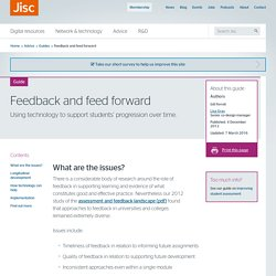 Feedback and feed forward