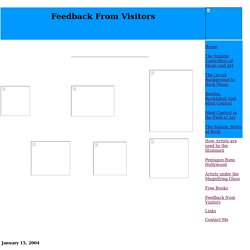 Feedback from Visitors