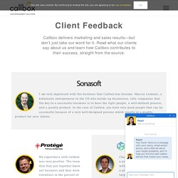Client Feedback - B2B Lead Generation Services - Callbox