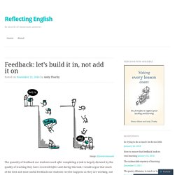 Feedback: let's build it in, not add it on