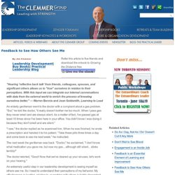 Feedback to See How Others See Me - The Clemmer Group