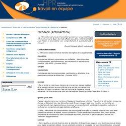 FEEDBACK - Portail HPR - Travail équipe - Polytechnique Montréal