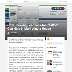 How Showing Feedback for Realtors Can Help in Marketing a House