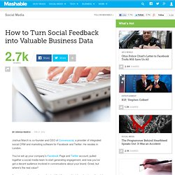 How to Turn Social Feedback into Valuable Business Data