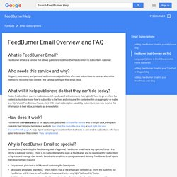 FeedBurner Email Overview and FAQ - FeedBurner Help