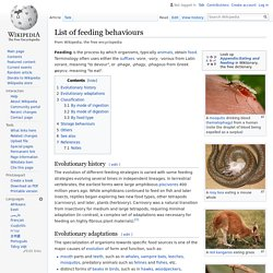 List of feeding behaviours - Wikipedia