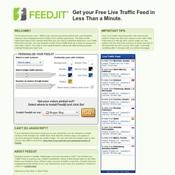 FEEDJIT - Live Traffic Feed & Other Awesome Widgets - Flock