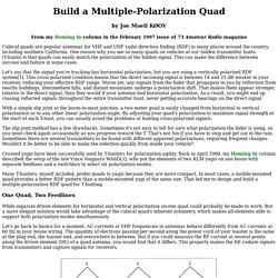Cubical Quad with Dual Feedlines for Multiple Polarizations