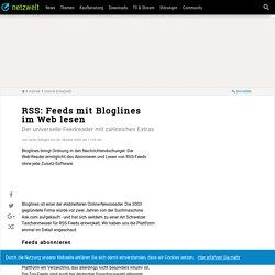 RSS: Feeds mit Bloglines im Web lesen - NETZWELT