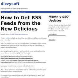 Delicious - How to Get RSS Feeds
