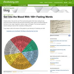 Get Into the Mood With 100+ Feeling Words : Department of Word Lists
