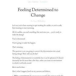 Feeling Determined to Change
