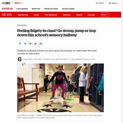Feeling fidgety in class? Go stomp, jump or hop down this school's sensory hallway
