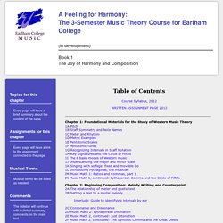 Feeling For Harmony Book 1 Home Page