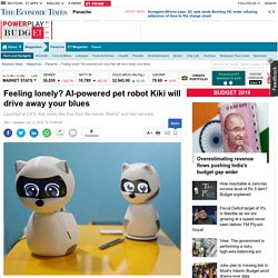 Feeling lonely? AI-powered pet robot Kiki will drive away your blues