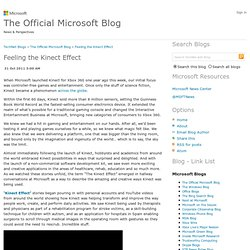 Feeling the Kinect Effect - The Official Microsoft Blog – News and Perspectives from Microsoft