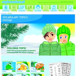 Feelings Topic for ESL Kids