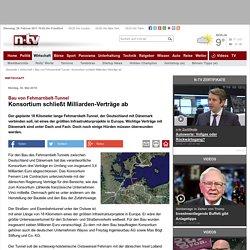 Bau von Fehmarnbelt-Tunnel: Konsortium schließt Milliarden-Verträge ab