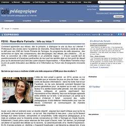 FEI16 : Rose-Marie Farinella : Info ou intox ?