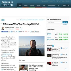 David Feinleib: Why Startups Fail: And How Yours Can Succeed