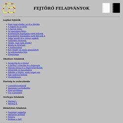 Fejtörő feladványok (Gáspár Merse Előd honlapja)