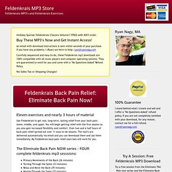 Feldenkrais mp3 Download Store: Feldenkrais Exercises, Relaxation, Breathing Exercises, Back Pain Elimination
