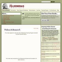 Feldenkrais, Moshe Feldenkrais – The Feldenkrais Institute, New York
