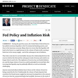 Fed Policy and Inflation Risk by Martin Feldstein - Project Syndicate