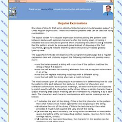 Software - Regular Expressions
