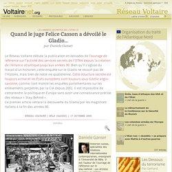 Quand le juge Felice Casson a dévoilé le Gladio…, par Daniele Ganser