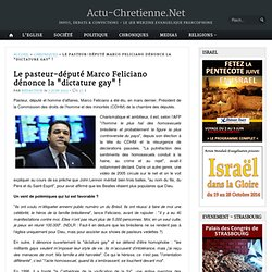 """Le pasteur-député Marco Feliciano dénonce la """"dictature gay"""" !"""