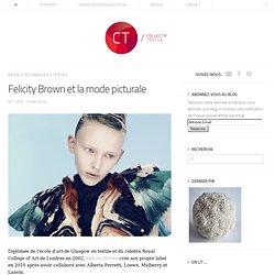 Felicity Brown et la mode picturale
